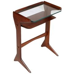 Console Bedside Table Cesare Lacca Mid-Century Modern in Mahogany