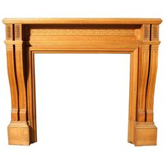 Good Quality Carved Oak Fire Surround, circa 1880