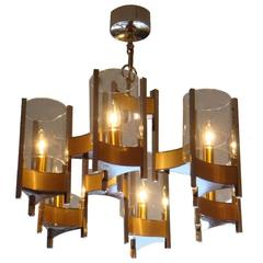Signed Sciolari Chandelier
