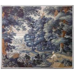 Flandres Manufacture Antique Tapestry, 18th century, Fishing