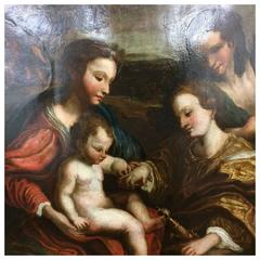 Oil on Copper, Holy Family, 17th Century