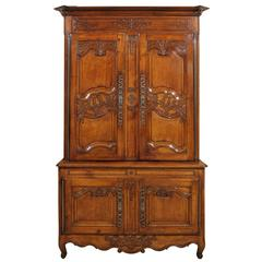19th Century French Buffet Deux Corps in Cherry, circa 1820
