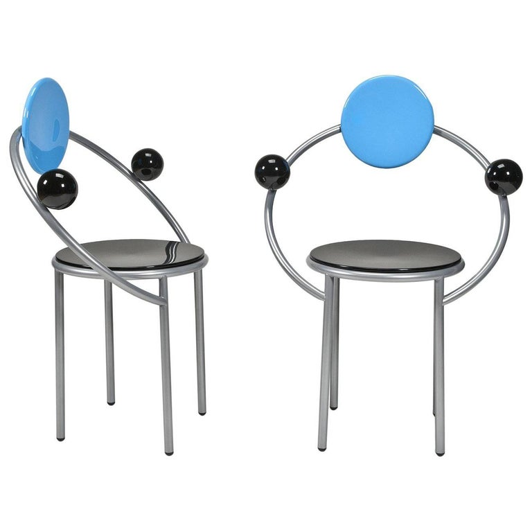 Pair of First Chairs by Michele de Lucchi for Memphis