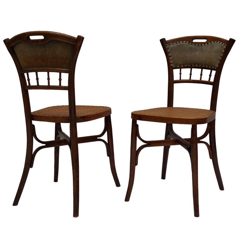 Great Set of 40 Art Nouveau Chairs, circa 1900 For Sale