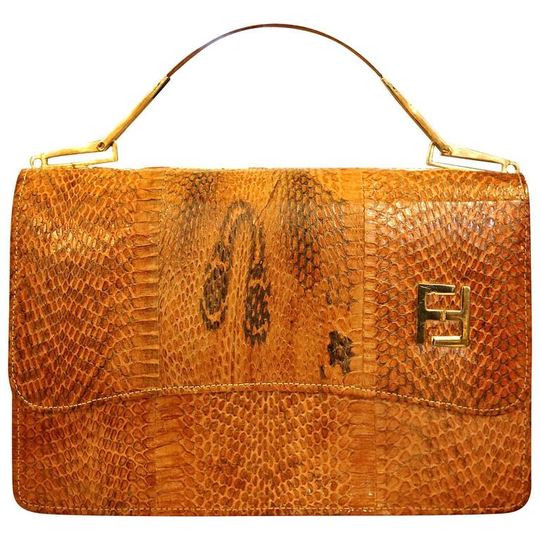 eaac7d06387f Vintage 1960 Lizard Designer Purse by Fendi Ladies Clutch Hand Bag For Sale