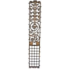 19th Century Cast Iron Elevator Grille from the Manhattan Building