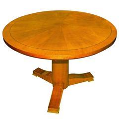 """Karl Springer """"Regency Table"""" in Lacqured Anigre, 1980s"""