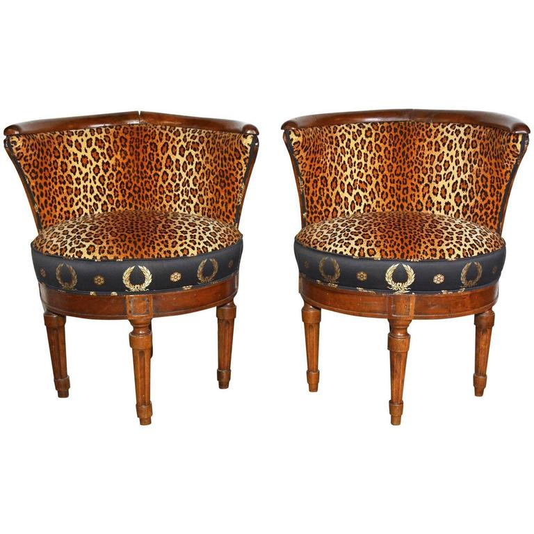 French Barrel Slipper Chairs For Sale