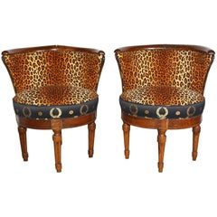French Barrel Slipper Chairs