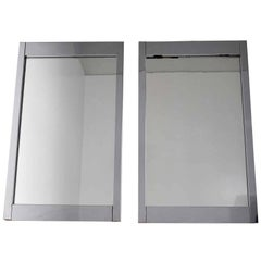 Pair of Large Chrome Frame Mirrors