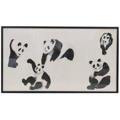 Vintage Panda Art