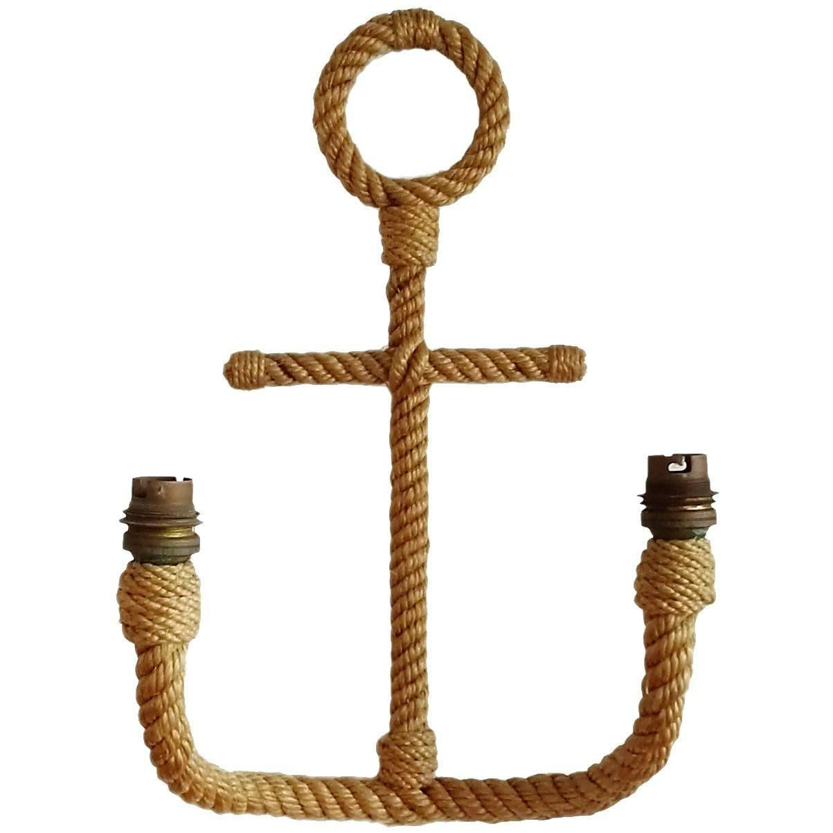 Single Anchor Shaped Rope Sconce by Audoux Minet, France, 1960s