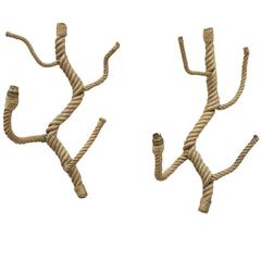 Rare Pair of Oversized Branch Shaped Sconces by Audoux Minet, France, 1960s