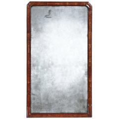 George II Walnut Framed Mirror