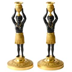 Stunning Pair of Blackamoor Candelabra