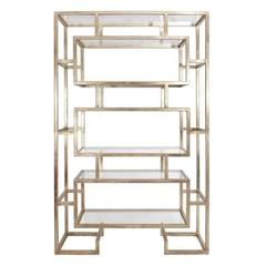 Chinoiserie Bookcase in Champagne