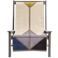 Sling Chair, Lounge Chair in Gray Ash, Wool Sling