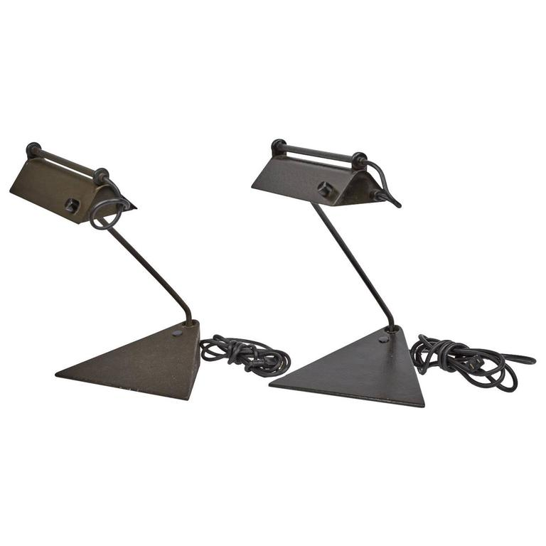 Koch & Lowy Adjustable Pair of Desk Lamps, circa 1960