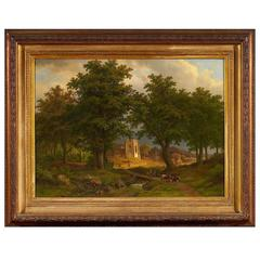 Bimmerman, Caesar, Broad Wooded Landscape in Evening Light