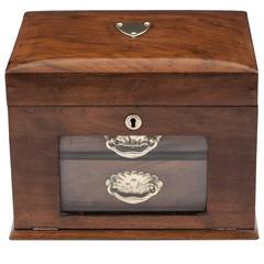 Antique Walnut Jewelry Cabinet