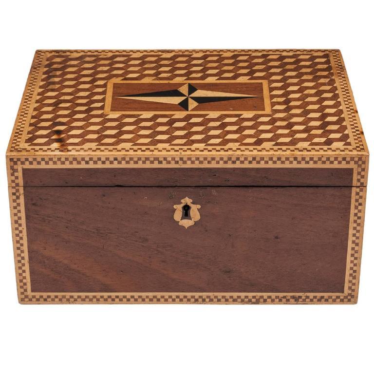 19th Century Victorian Mahogany Box For Sale