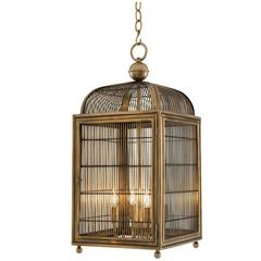 Rapace Lantern in Antique Brass Finish or Polished Stainless Steel Finish