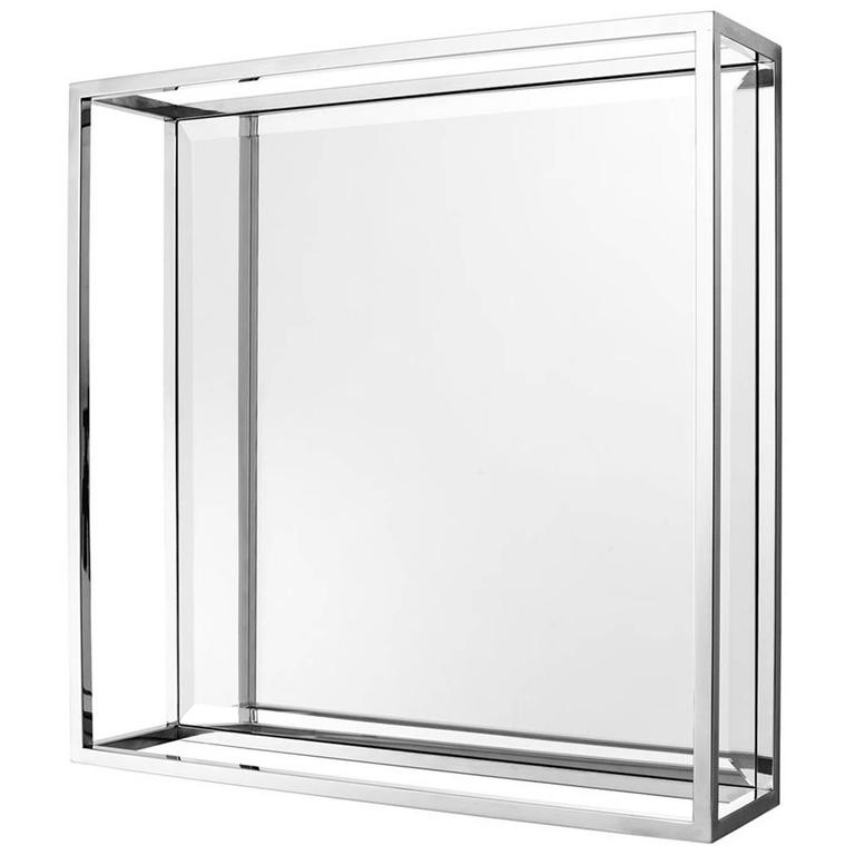 Crown Mirror in Polished Stainless Steel