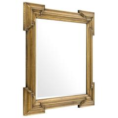 Scuadro Mirror with Antique Brass Finish Square Frame