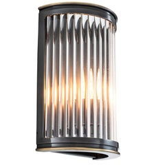 Corridor Wall Lamp in Gunmetal Finish or in Stainless Steel