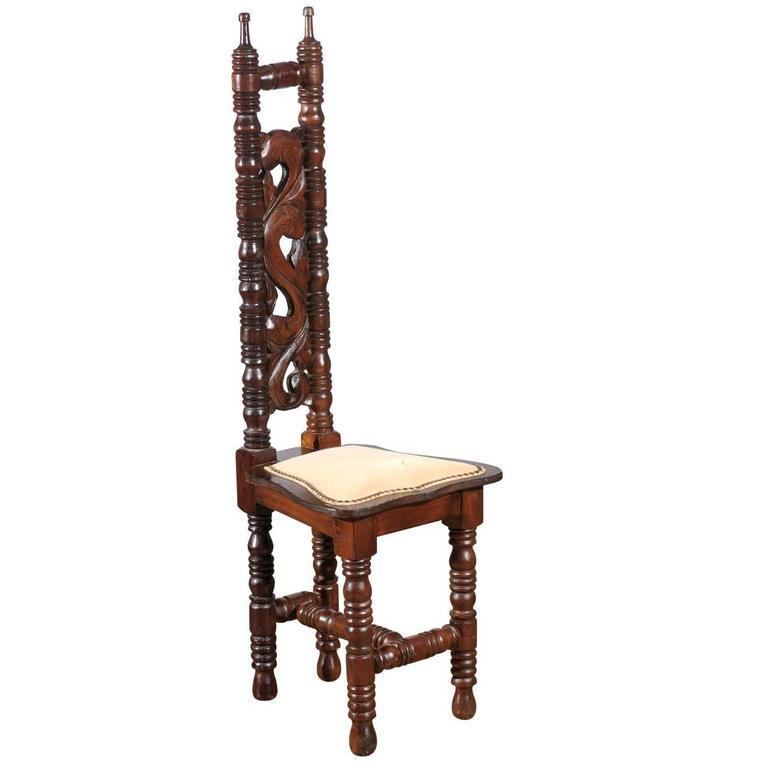 Spanish Hall Chair of Oak