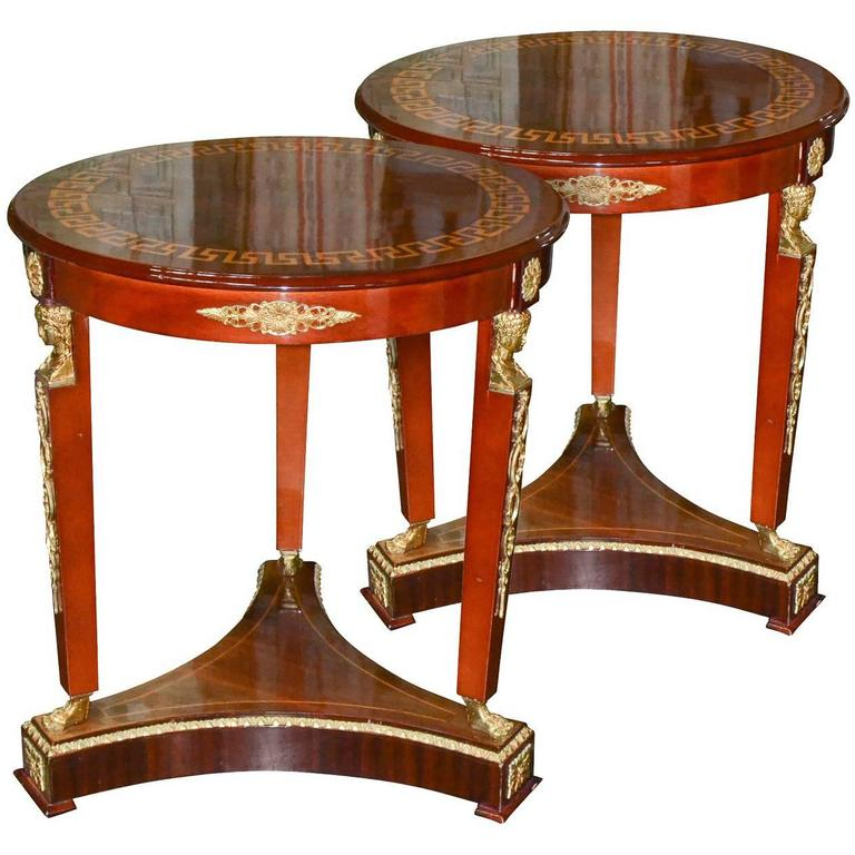 Nice Pair of Italian Empire Side Tables
