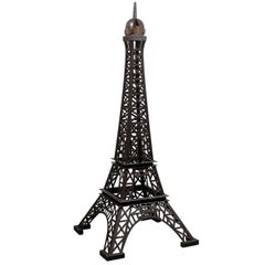6.5 Ft. Tall Heavy Iron Statue Replica of the Eiffel Tower, Recycle Vintage Iron