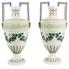 19th Century Painted Urns from Naples