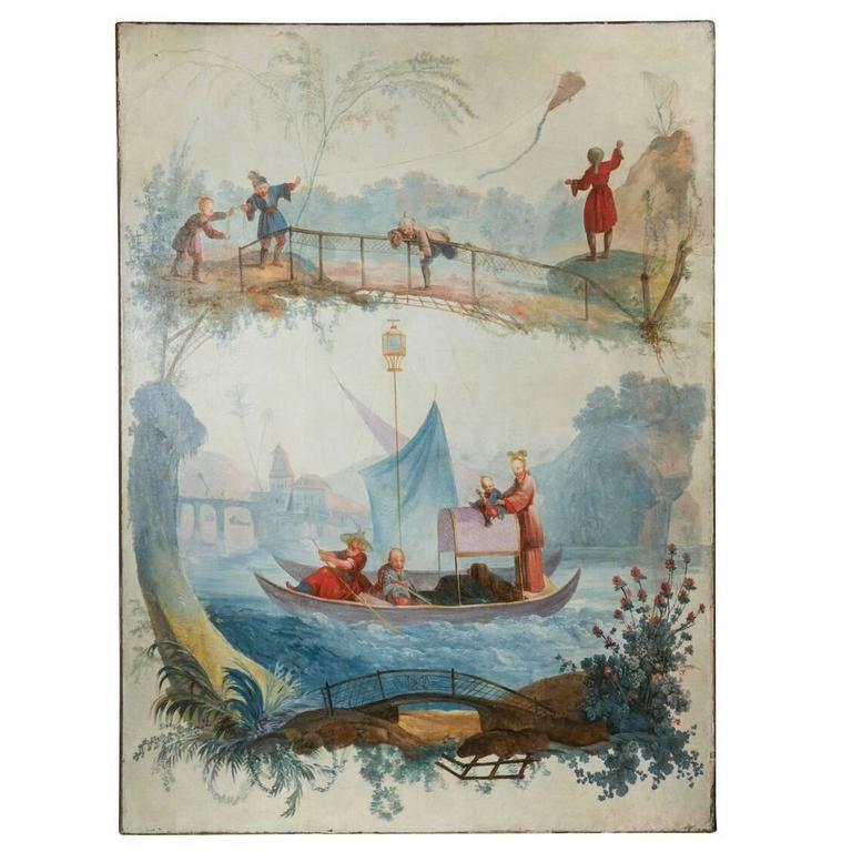 Grand, 18th Century Chinoiserie Painting