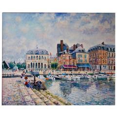 Yetvart Kaprielian (Born 7-7-1959) La Mairie L'honfleur Au Bord Du Vieux Bassin