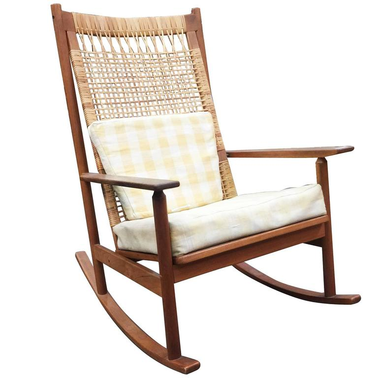 Genial Danish Modern Rocking Chairs By Hans Olsen For Juul Kristiansen For Sale
