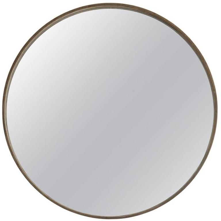 Large Basic Black Suede Mirror by ASH NYC For Sale