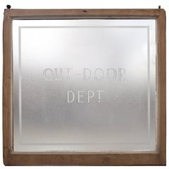 Etched Glass Window/Sign