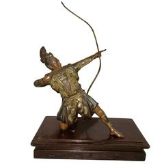 Miyao Influenced Japanese Bronze of Archer