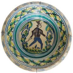 19th Century Large Talavera de la Reina Lebrillo