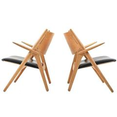 Pair of Hans J. Wegner CH28 Saw Horse Chairs