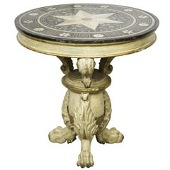 Marble-Top Occasional Table, circa 1900