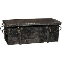 1874 Versailles Metal Ammunition Trunk, Perfect for Coffee Table Use