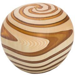 Wood Grain Round Murano Vase