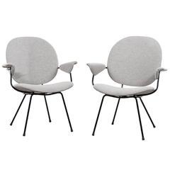 WH Gispen Easy Chairs Model 302 for Kembo, Netherlands