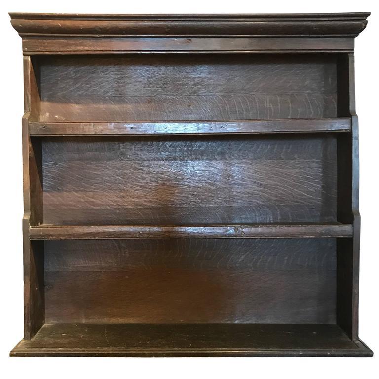18th Century Oak Dish Shelf