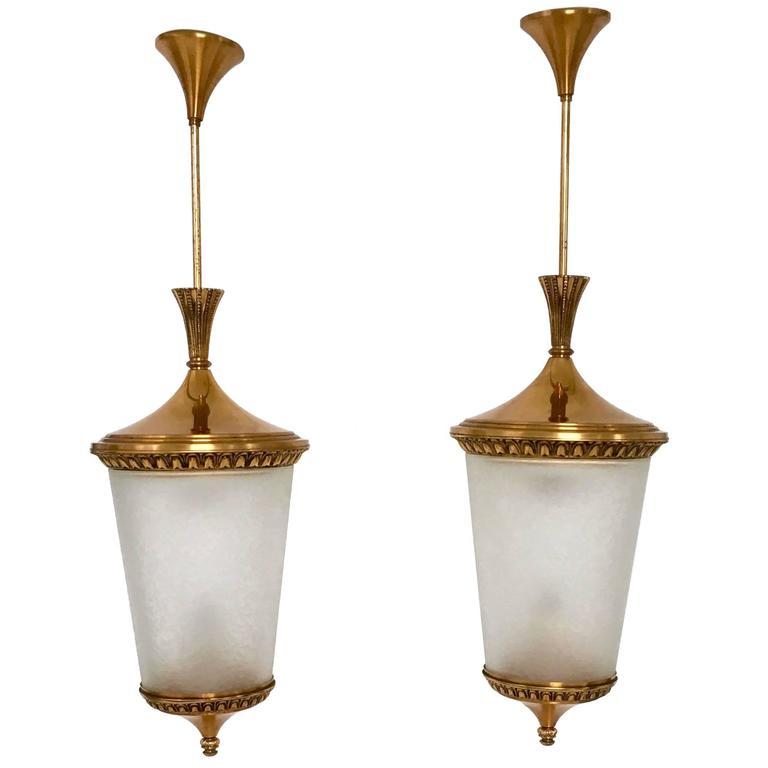 Pair of Pendants Ascribable to Oscar Torlasco for Lumi, 1950s