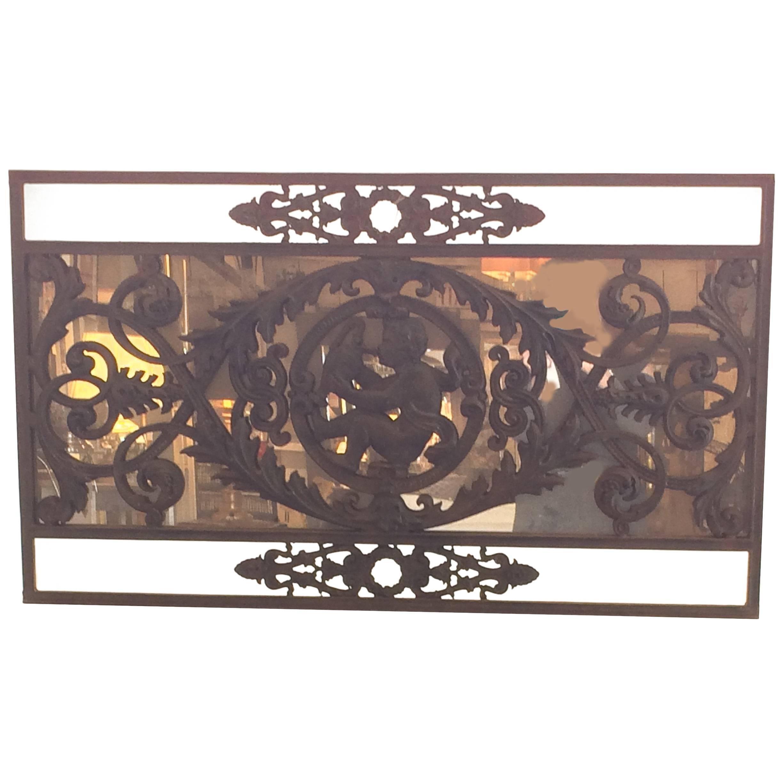 Charming Iron Garden Gate Mirror