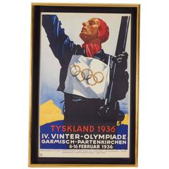 Winter Olympic Games Skiing Poster, Germany, 1936