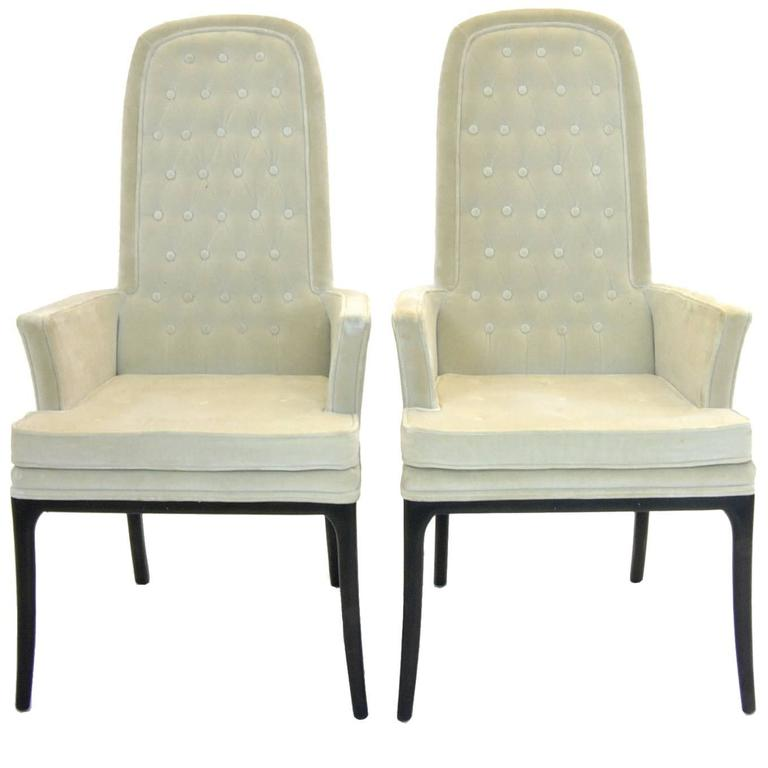 Stunning Pair of Original Tufted Erwin-Lambeth for Tomlinson Armchairs For Sale